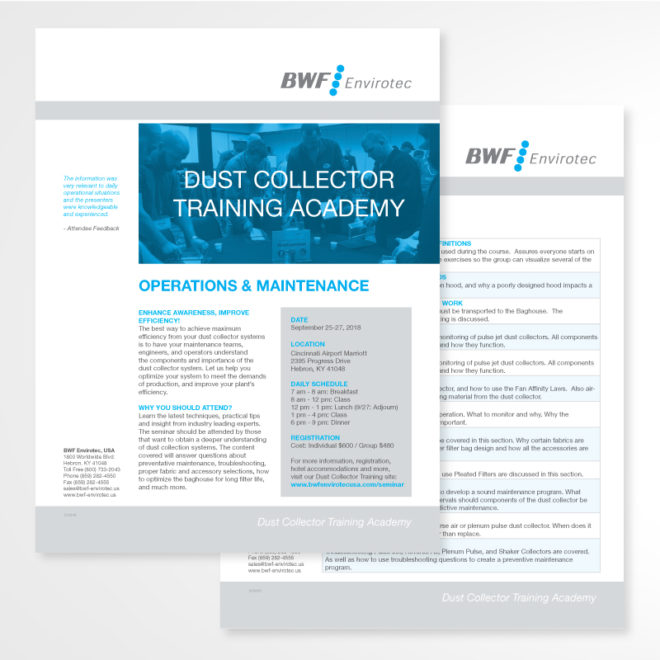 Training Academy Flyer